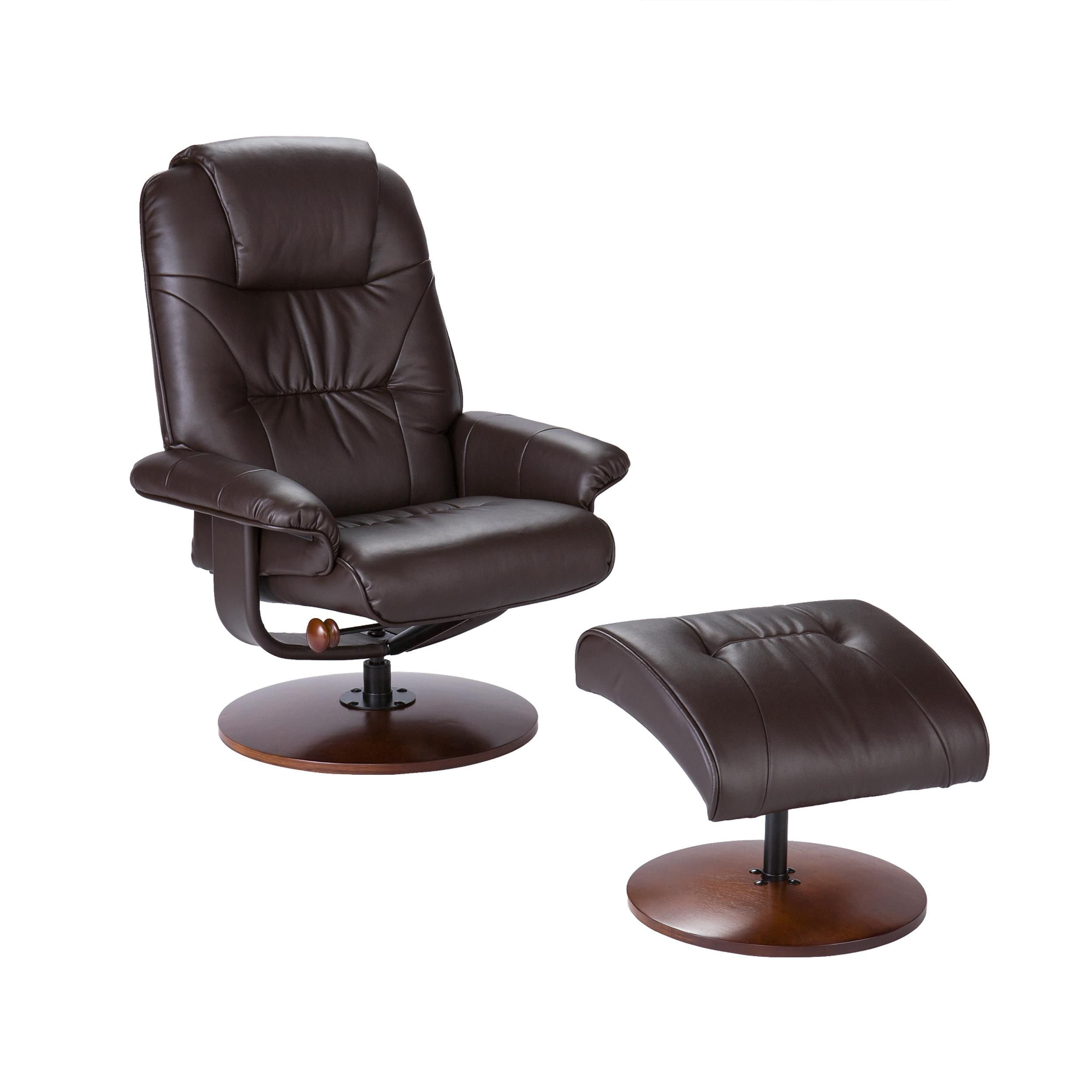 Amazoncom Bonded Leather Recliner and Ottoman