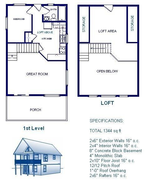 20x30 Cabin W Loft Plans Package Blueprints Material List 610373665753 Ebay Loft Floor Plans Cabin Plans With Loft Loft Plan
