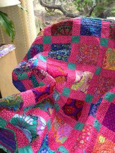 Pink.  Stillwaterlakedawnblog.wordpress.com  Super quilt, go read her blog, she is special.