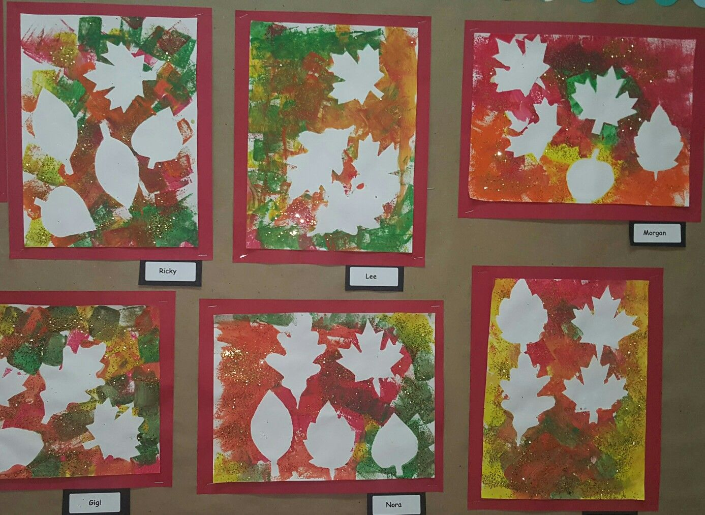 Fall Leaves Preschool Craft