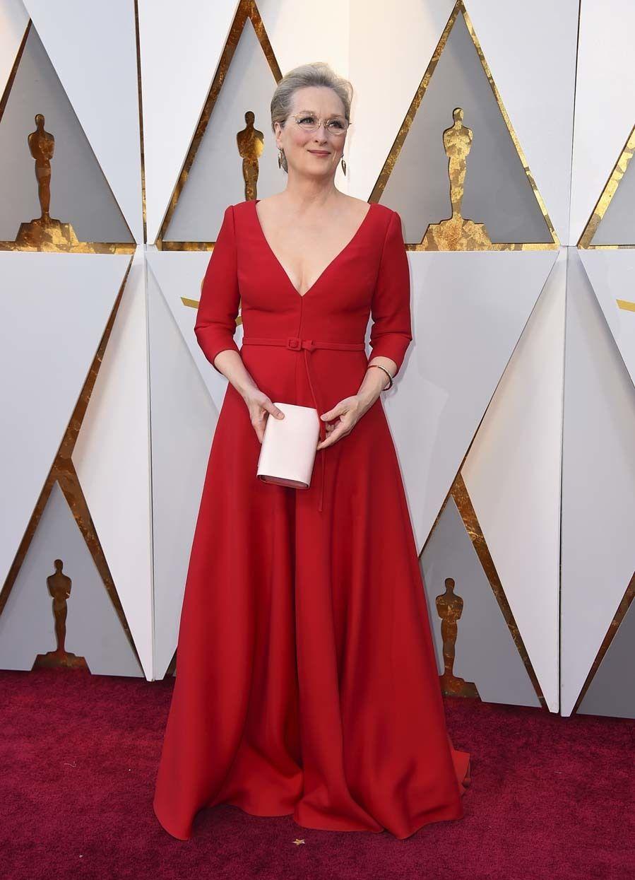 Alfombra Roja Premios Oscar 2018 Meryl Streep En 2019
