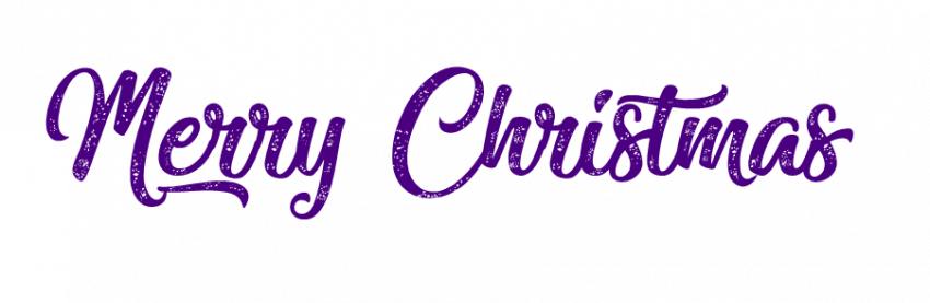 Merry Christmas Day Text PNG HD Transparent Blue