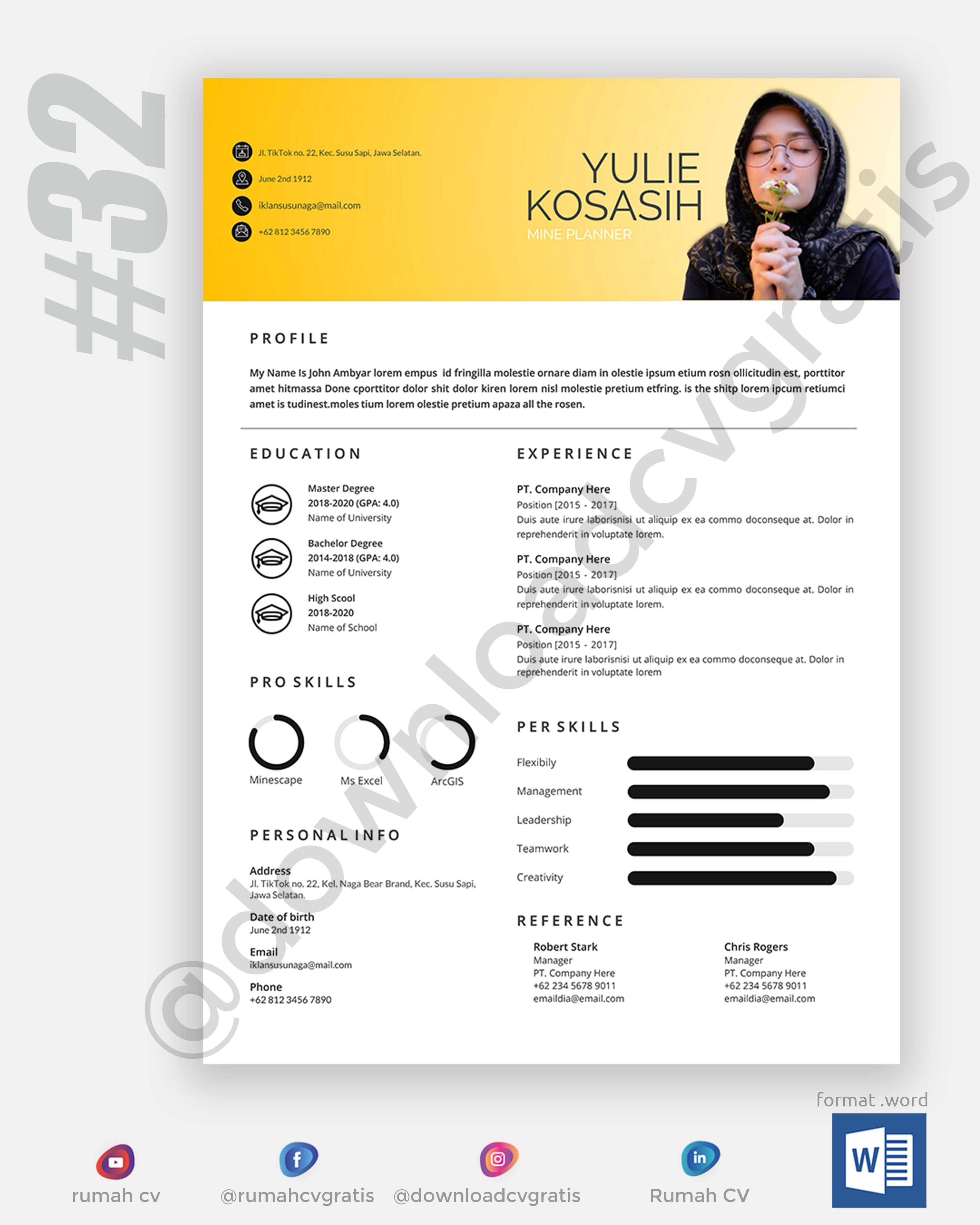 Contoh Cv Lamaran Kerja 32 Curriculum Vitae Examples Cv Examples Curriculum Vitae