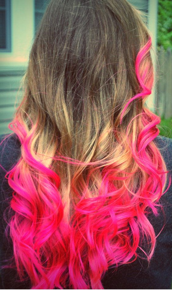 Dip Dyed Hair Pink Ombre Hair Hot Pink Hair