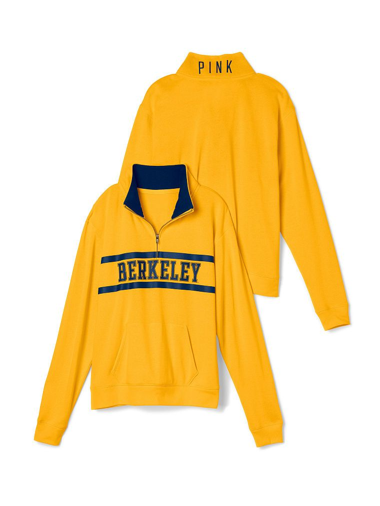 5f494372c79b9 University of California Berkeley Boyfriend Half Zip - PINK ...