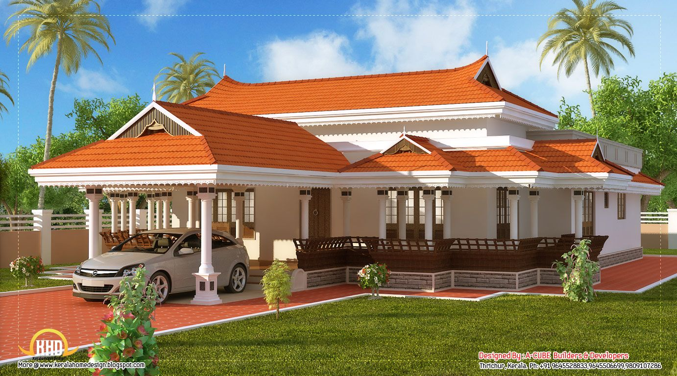 Indian design houses kerala model house design 2292 sq for Simple house elevation models