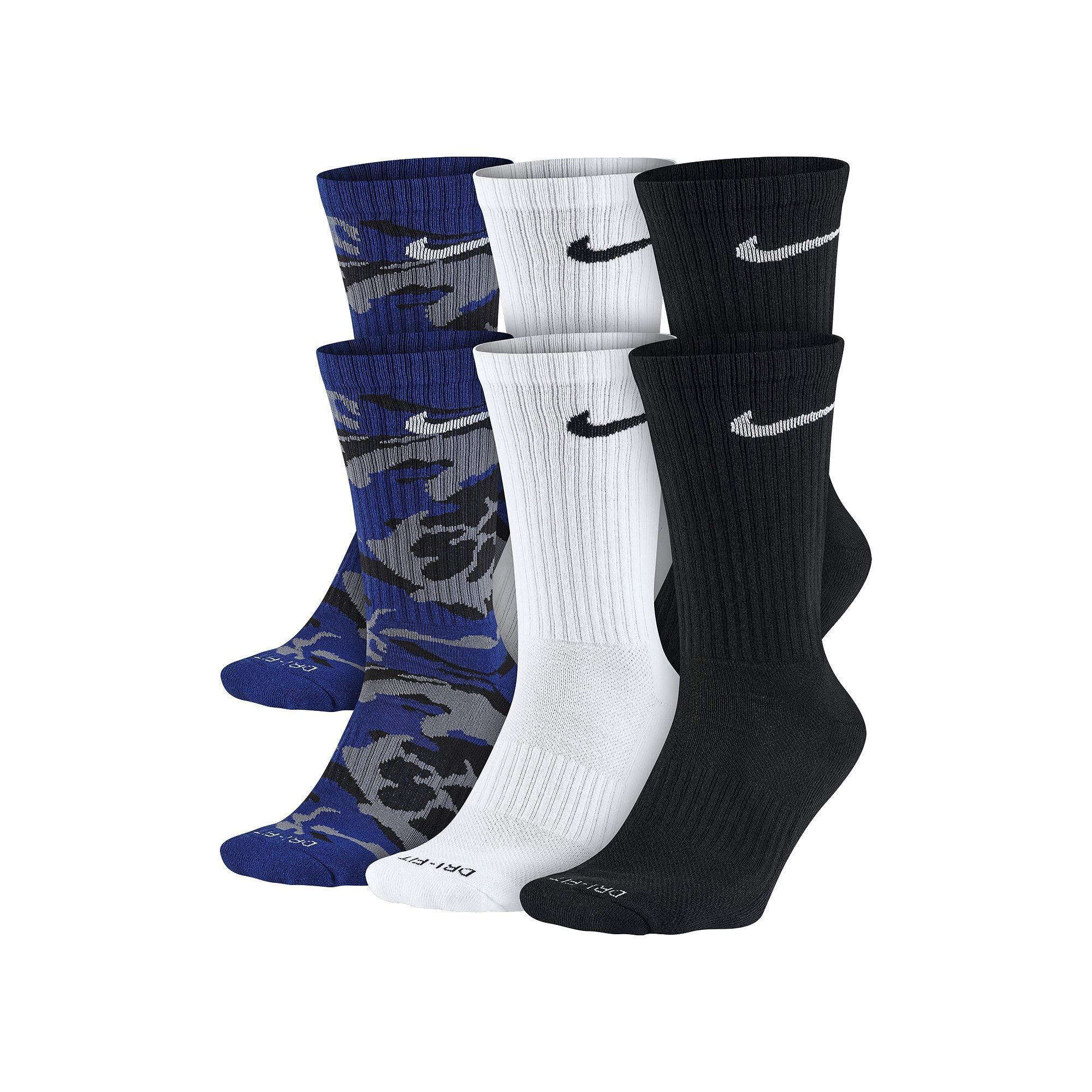 39499640eddba Men's Nike 6-pack Dri-FIT Performance Crew Socks | Products | Crew ...