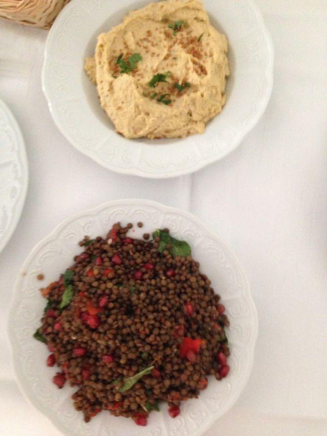 Hummus en frisse linzensla