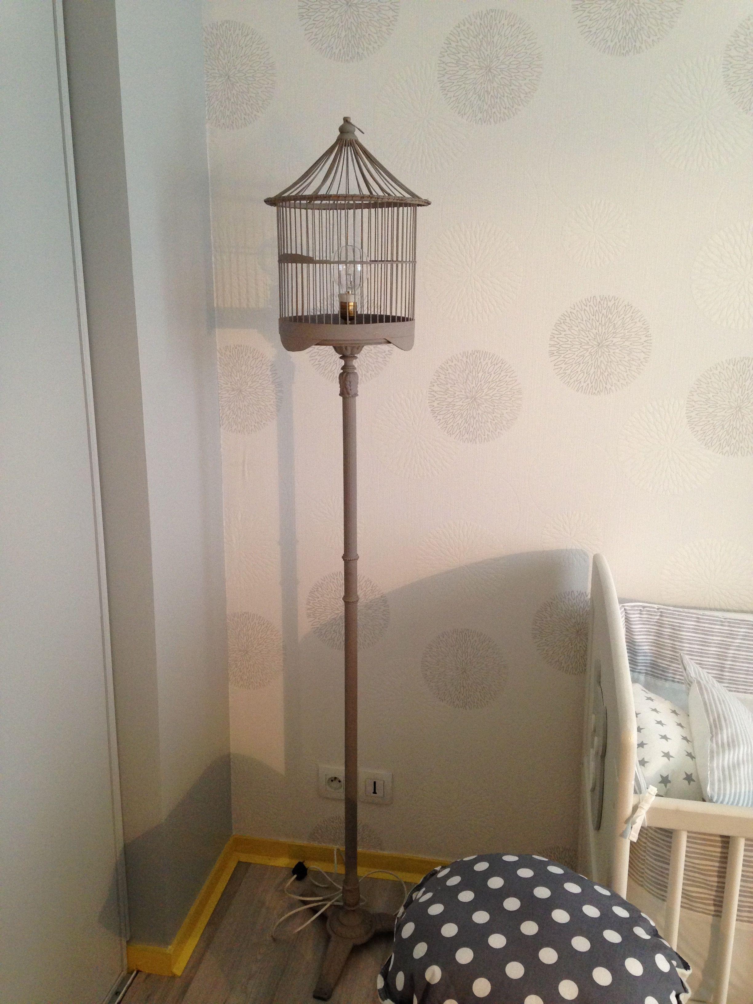 astuce cr ation d 39 une lampe cage oiseaux l 39 atelier d co france 2 r cup pinterest. Black Bedroom Furniture Sets. Home Design Ideas