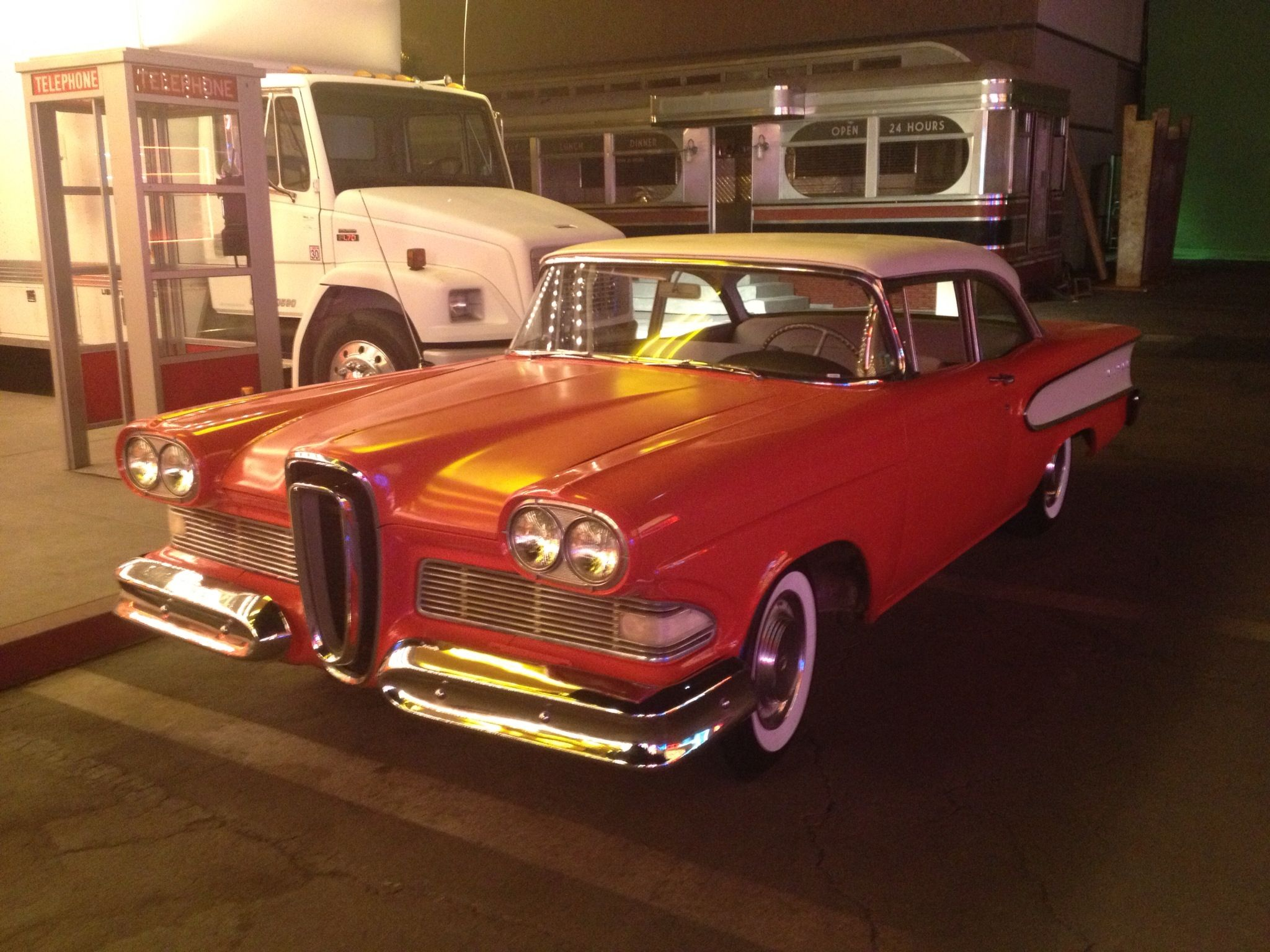 Orange Glow For A Very Nice Old Car Antique Cars Edsel Old Cars
