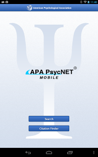 download the free apa psycnet mobile app from google play for your