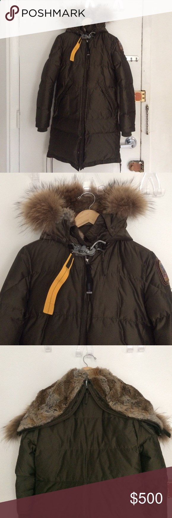 Parajumpers Long Bear Coat, M Amazing and warm down parka by Parajumpers with beautiful fur hood. It is the long bear style from their Masterpiece series.