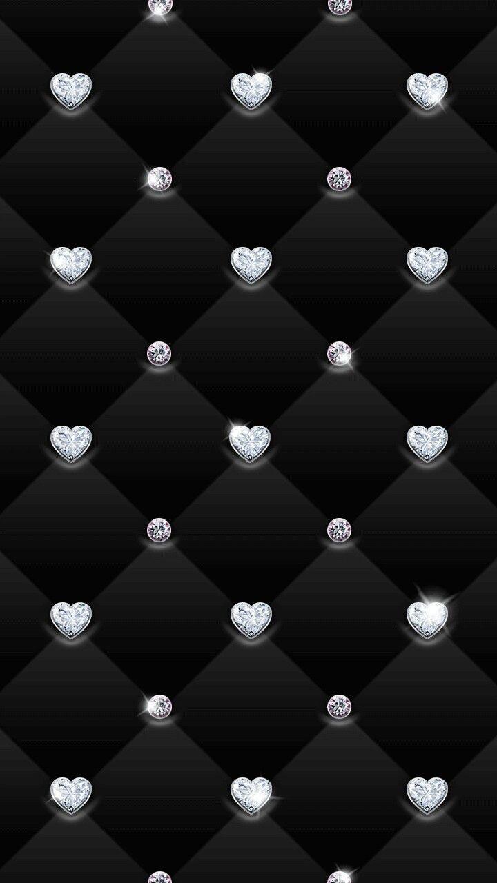 Sparkly Diamond Hearts Wallpaper Bling Wallpaper Glitter