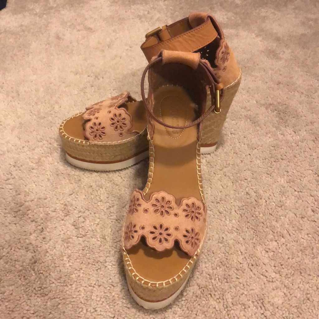 See By Chloe Shoes | See By Chloe Glyn Espadrille Wedge | Color: Tan | Size: 9 #seebychloe