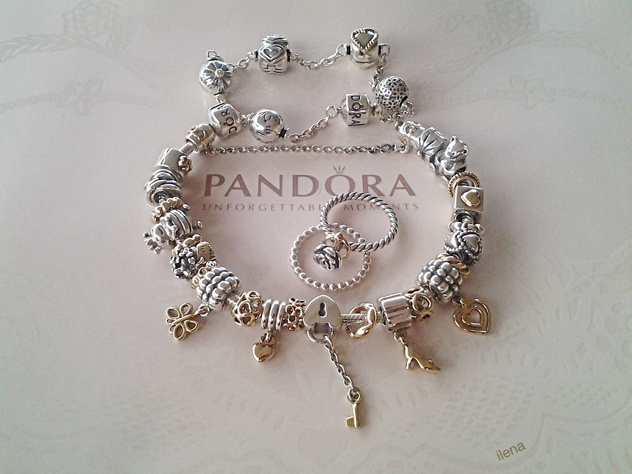 Pandora Charms And Rings In Silver And Gold Gotta Love Them Twotone  Styles!