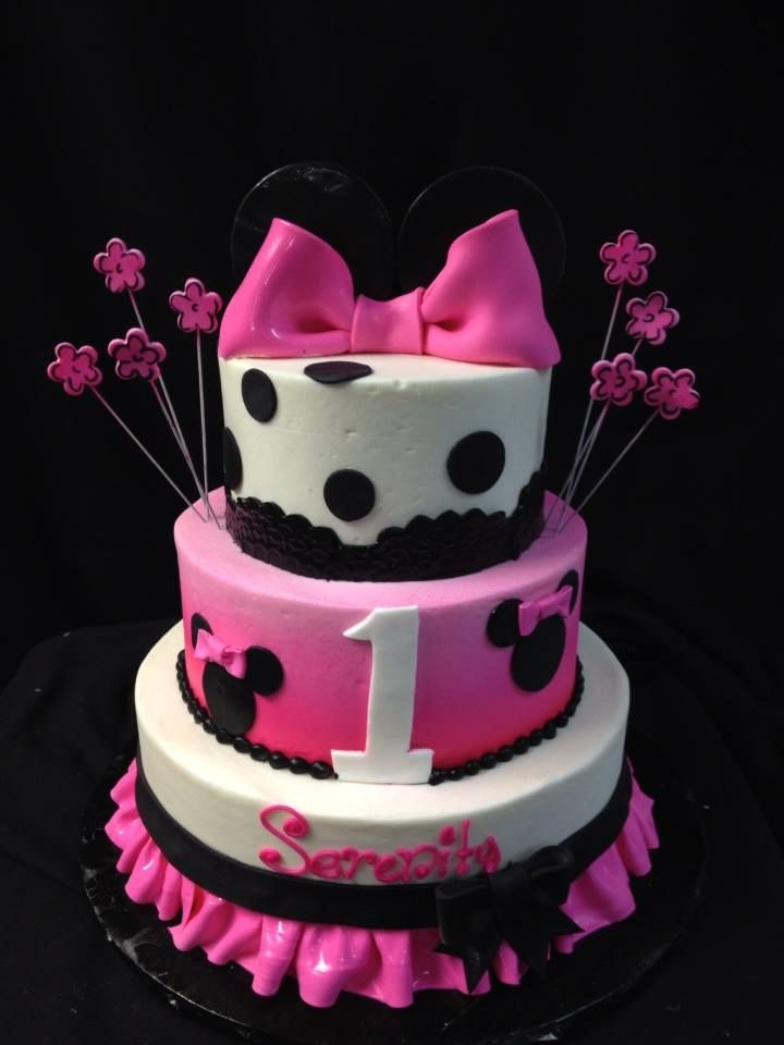 Mickey Mouse Little Girls 3 Tiered Birthday Cake Designed By Sam
