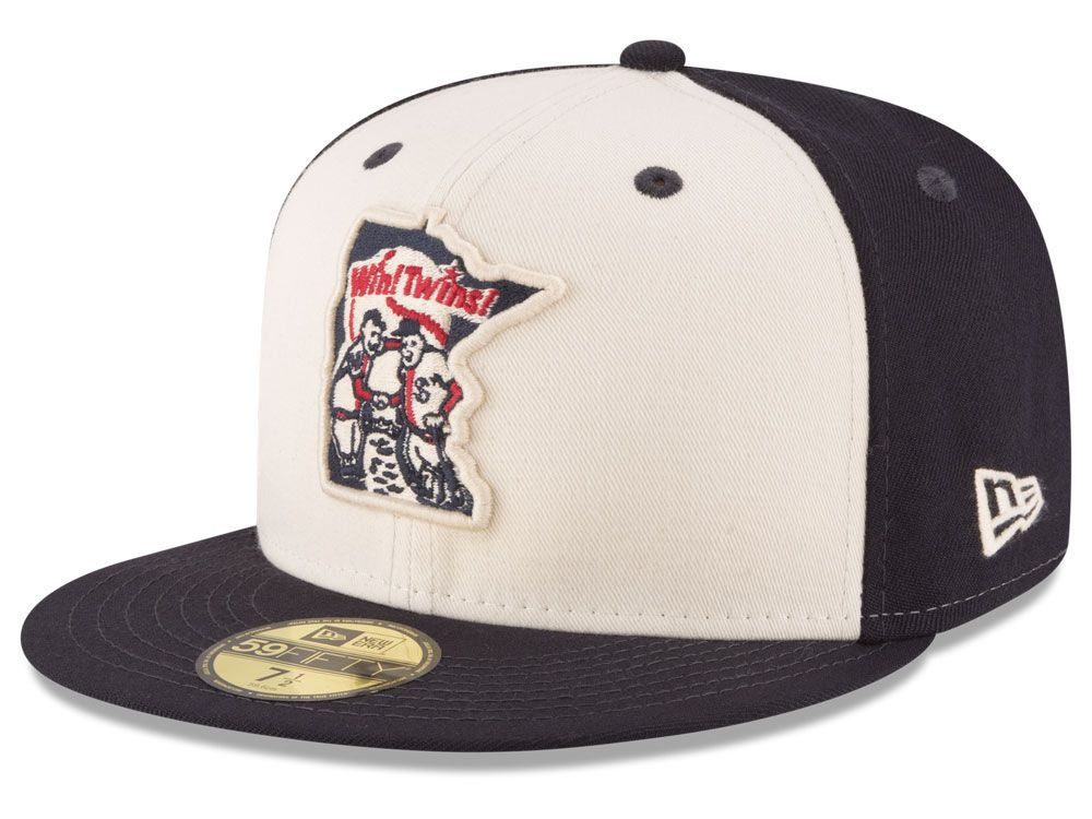 detailed look 5c7e3 645c7 Paul   Minnie Minnesota Twins New Era MLB Vintage Throwback 59FIFTY Cap
