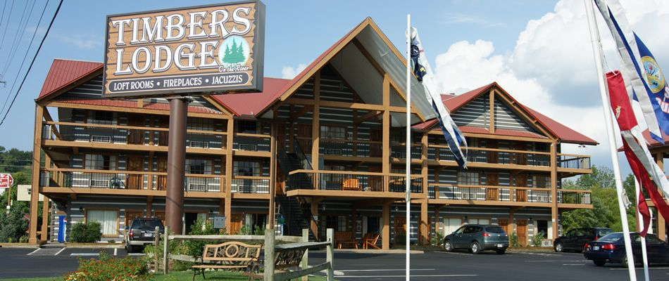 Timbers Lodge Charm Of A Real Smoky Mountain Log Cabin Convenience Modern Motel