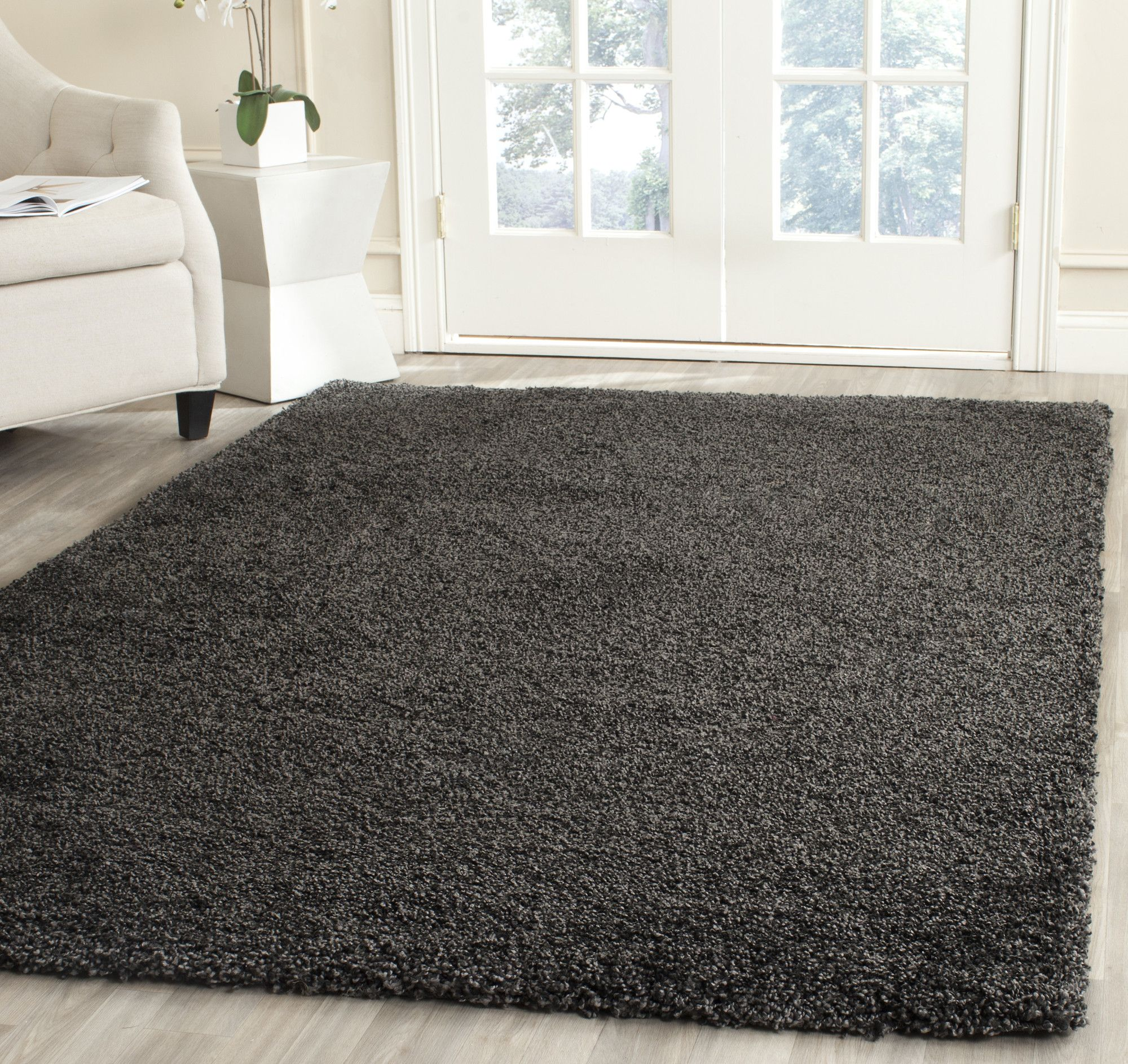 Heriberto Dark Gray Area Rug Dark Grey Rug Grey Rugs Rugs
