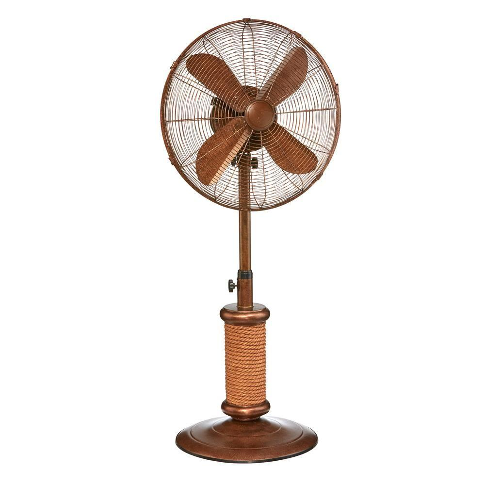 Deco Breeze 19 In Nautica Outdoor Fan Dbf2500 The Home Depot Outdoor Standing Fans Outdoor Fan Standing Fans