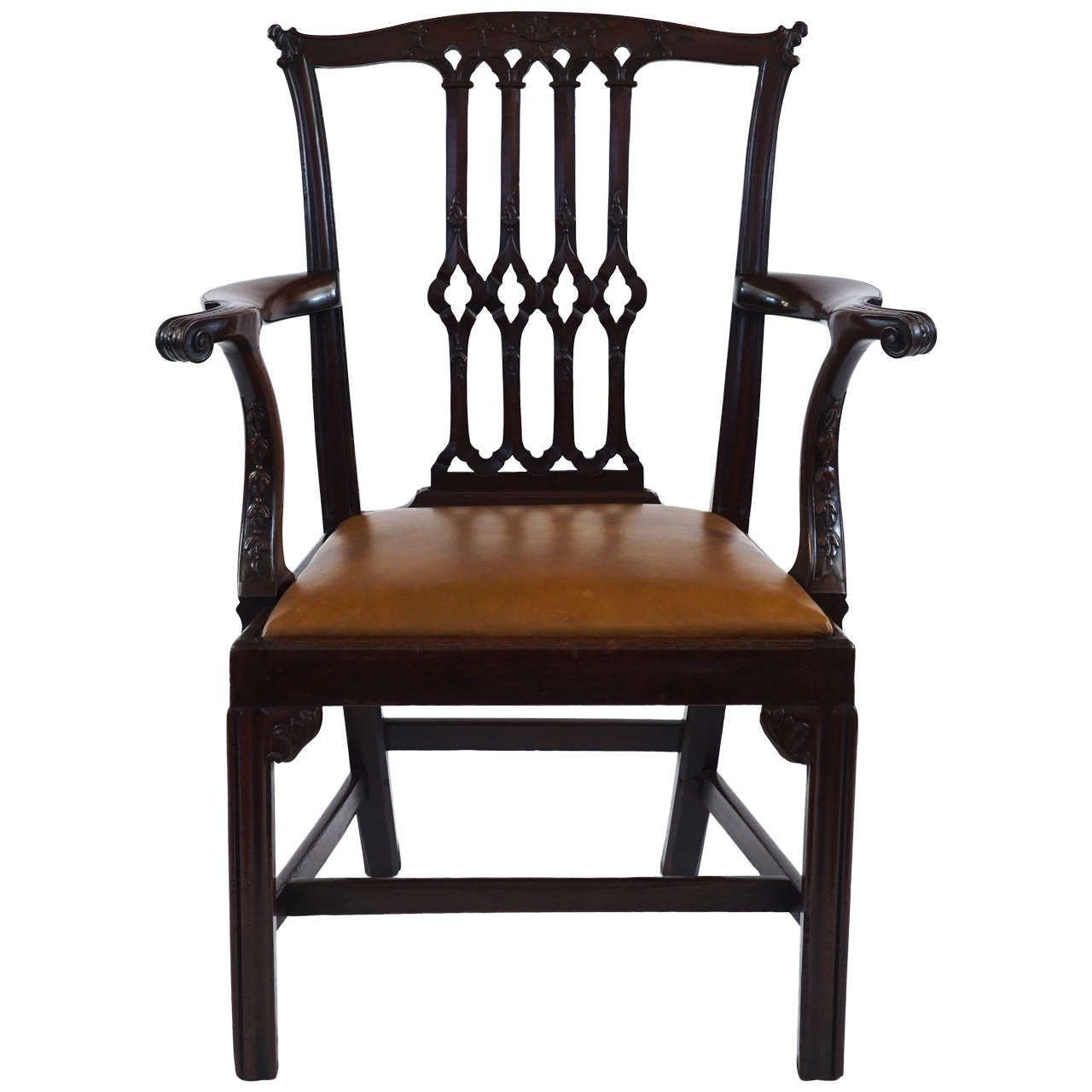 Best Gothic Chippendale Mahogany Armchair England Circa 1770 Chippendale Chairs Georgian 400 x 300