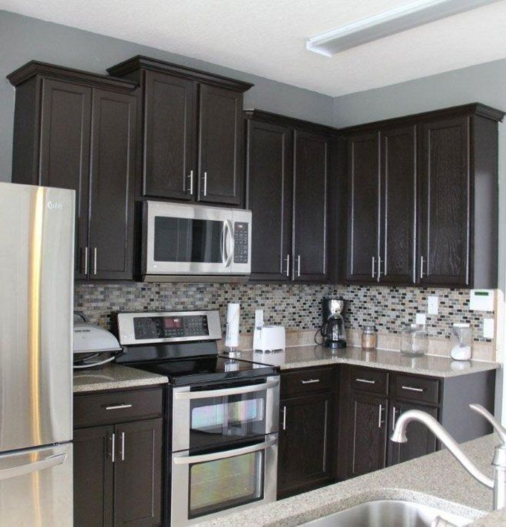 Gray Kitchen Cabinets With Black Appliances: Cabinet Transformations Submitted By Amanda Langham
