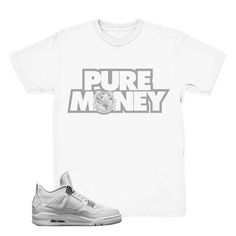 "Jordan 4 Pure Money ""Font"" T-Shirt"
