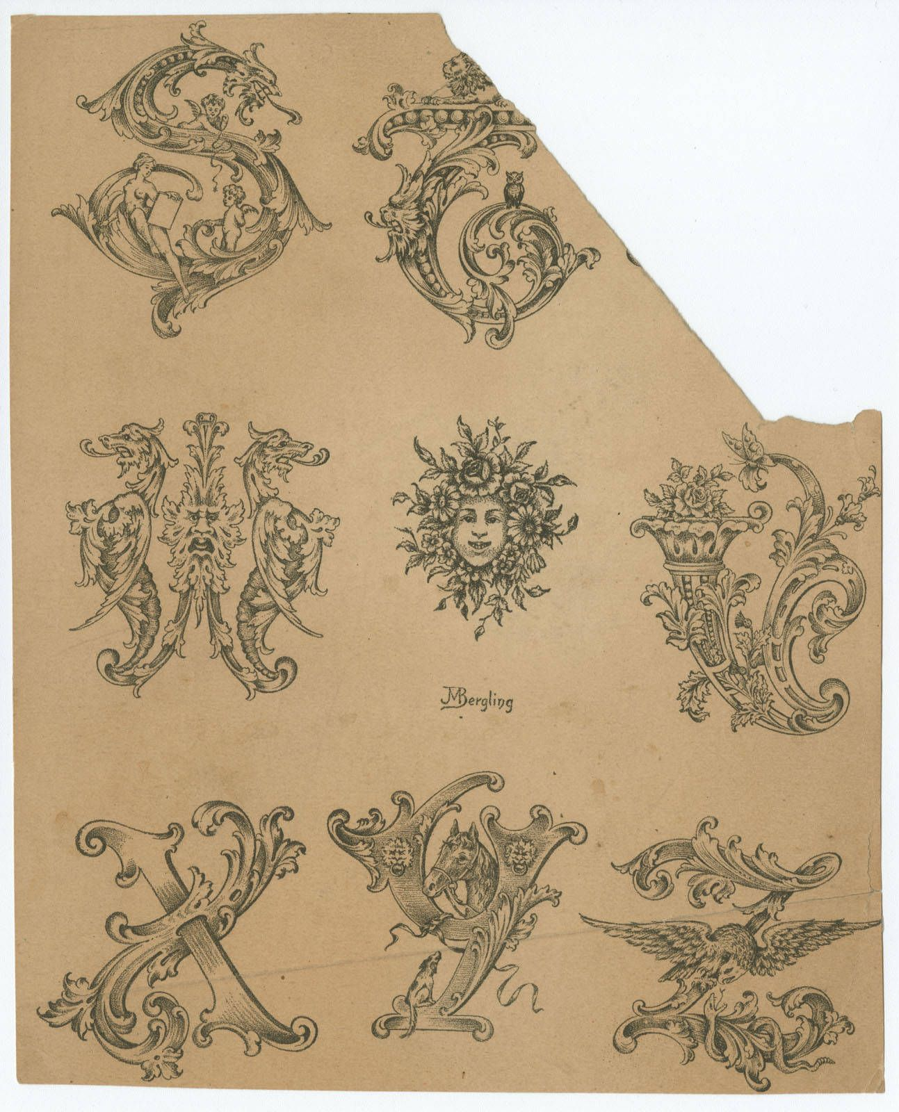 Collection Of Designs For Letters And Monograms, By J.M
