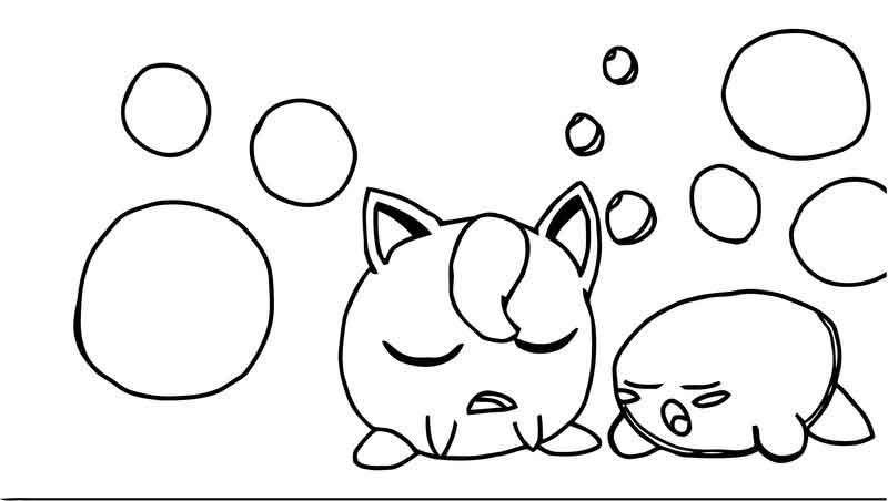 Pokemon Jigglypuff Coloring Pages Pikachu Coloring Page Pokemon
