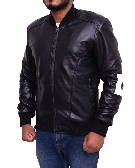 dae3058b8 Mens 8-Ball Bomber Supreme Leather Jacket (3) | 8 Ball Men Bomber ...