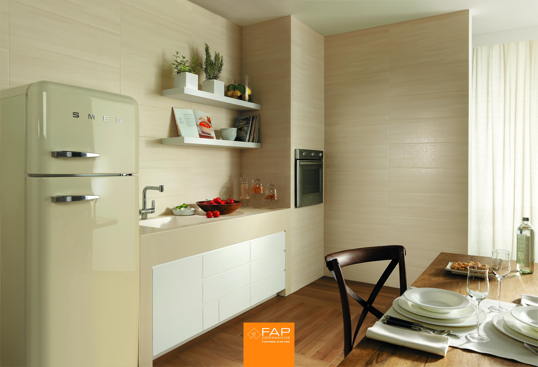 WALL Zero net pane Zero micromosaico beige FLOOR Nuances Rovere #fapceramiche #zero #ceramic #interior #madeinitaly #tile #wall