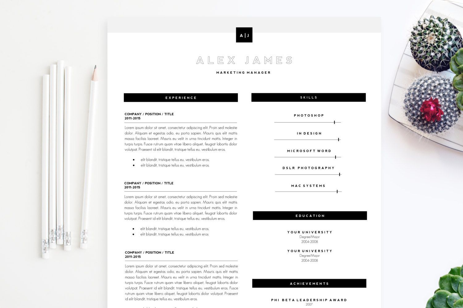 // resume templates and cv templates for microsoft word