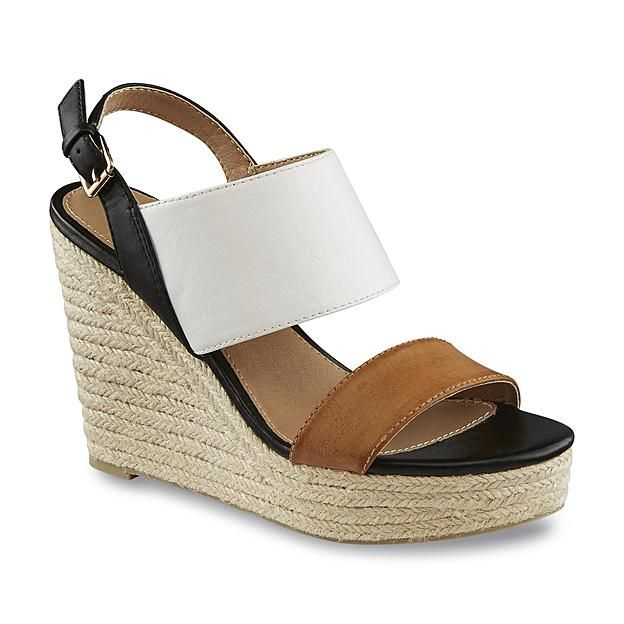 9e342092312 Metaphor Women s Catalina White Black Tan Espadrille Sandal