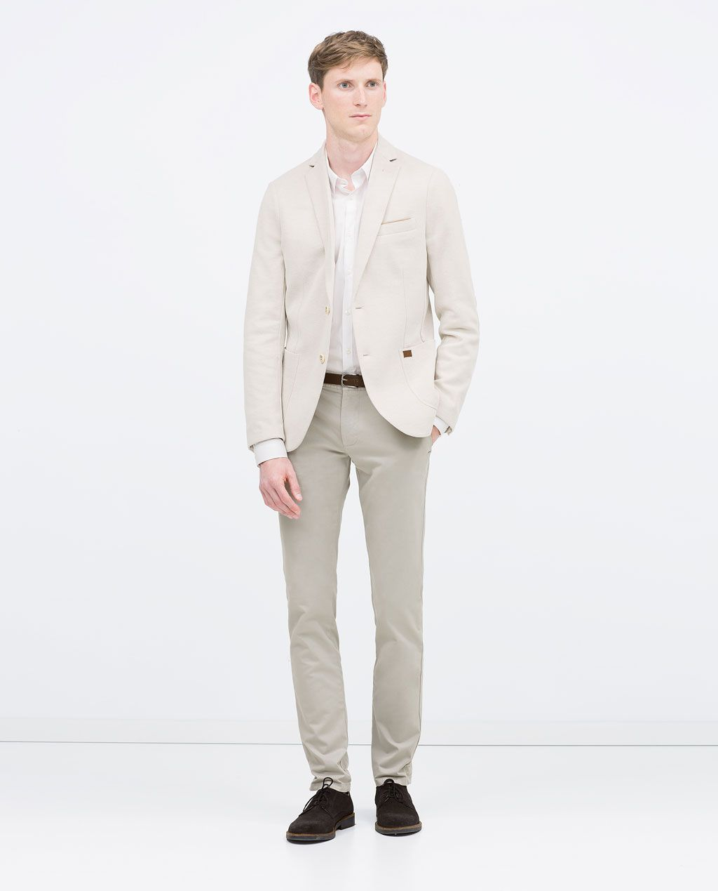 7d1b6618 ZARA - MAN - PIQUÉ BLAZER WITH ELBOW PATCHES | wedding | Suit Jacket ...