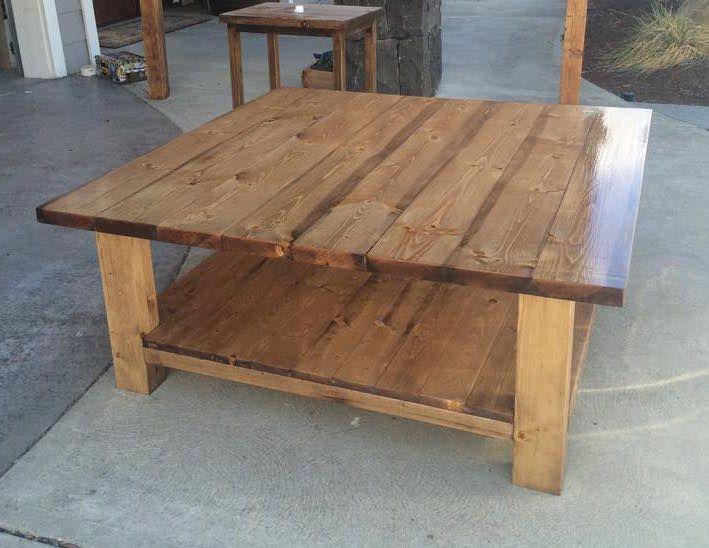 4x4 Rustic Coffee Table   DIY Plans