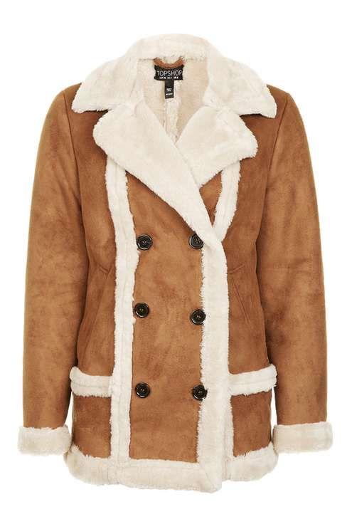 4c9c0c23e8224 Faux Fur Shearling Jacket - Jackets   Coats - Clothing - Topshop USA ...