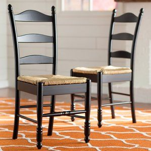Gennevilliers Ladder Back Side Chair Set Of 2  Home Decor Classy Side Chairs Dining Room Design Ideas