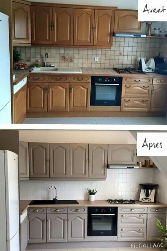 avant apr s cuisine susieq 39 s world pinterest kitchens house and interiors. Black Bedroom Furniture Sets. Home Design Ideas