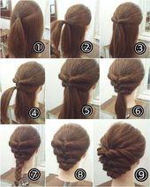 50+ DIY atemberaubende einfache Frisuren Tutorials Zurück zur Schule Schritt für Schritt Thi …