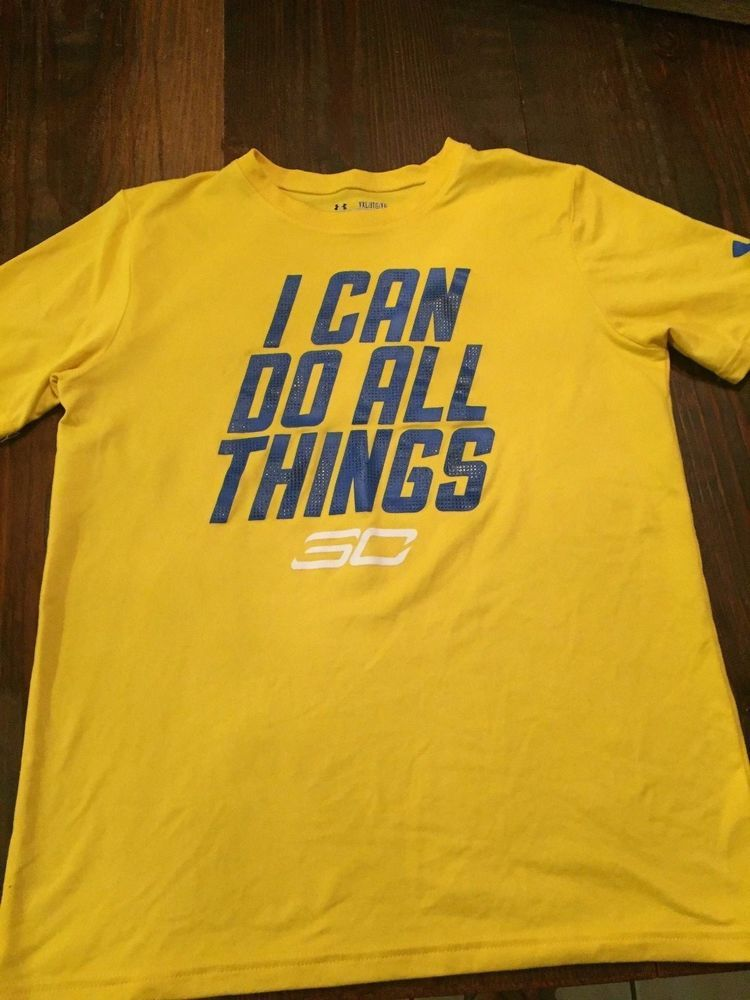 dbb4198d3 Under Armour Youth XL Loose Heat Gear Steph Curry I Can Do All Things  Yellow T #Underarmour