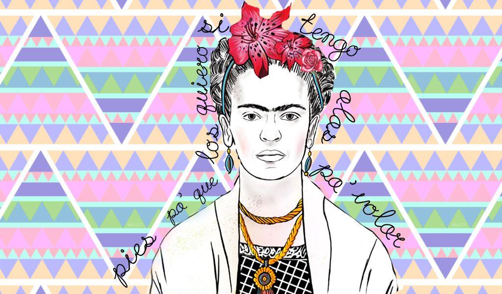 Frida Kahlo Wallpaper by XimeeCarteer.deviantart.com on @deviantART