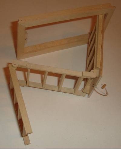 Dollhouse Attic Door With Ladder Attached Fun With Miniatures