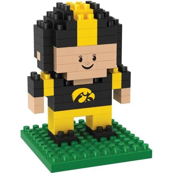 Iowa Hawkeyes NCAA 3D BRXLZ Player Puzzle Set | Iowa