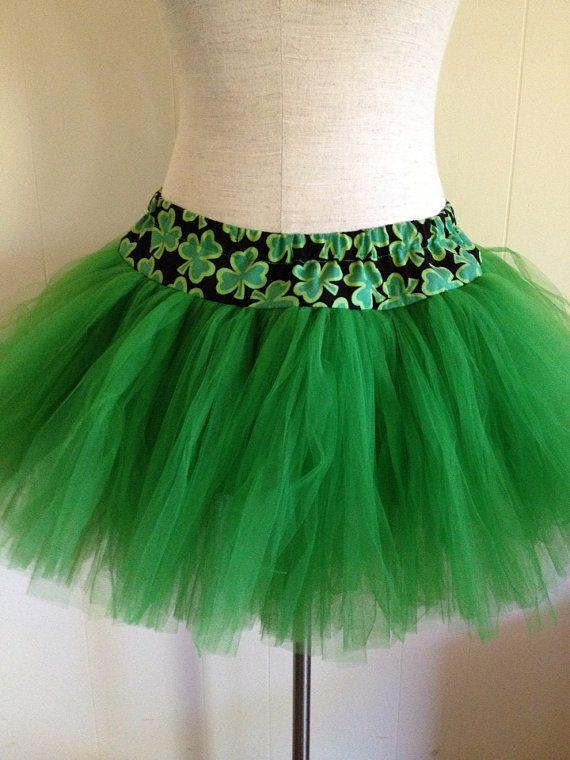 Girls Green Fairy Skirt Costume Size Small To Medium Elastic Waistband