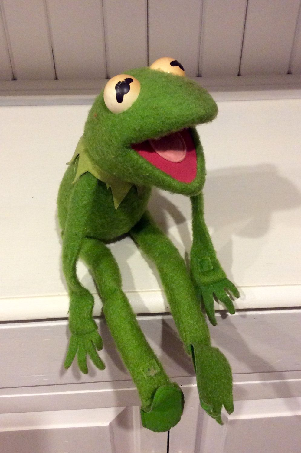 1976 Jim Henson S Kermit The Frog Plush Doll With Velcro