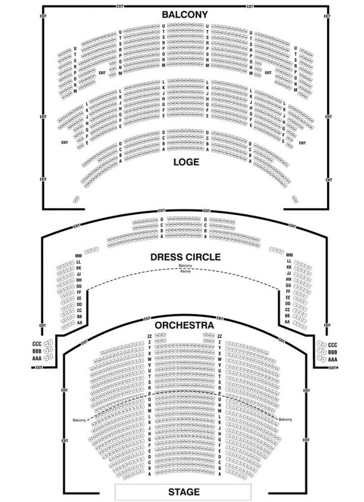 Chicago Theatre Seating Chart Detailed