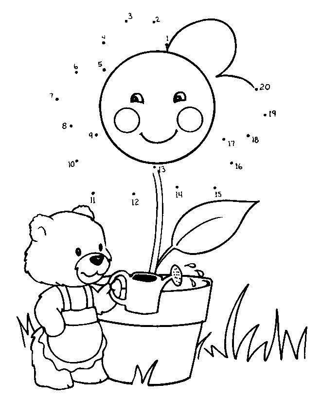 malvorlage linie | Malen nach Zahlen Vorlagen | Spring & Flowers Pre ...