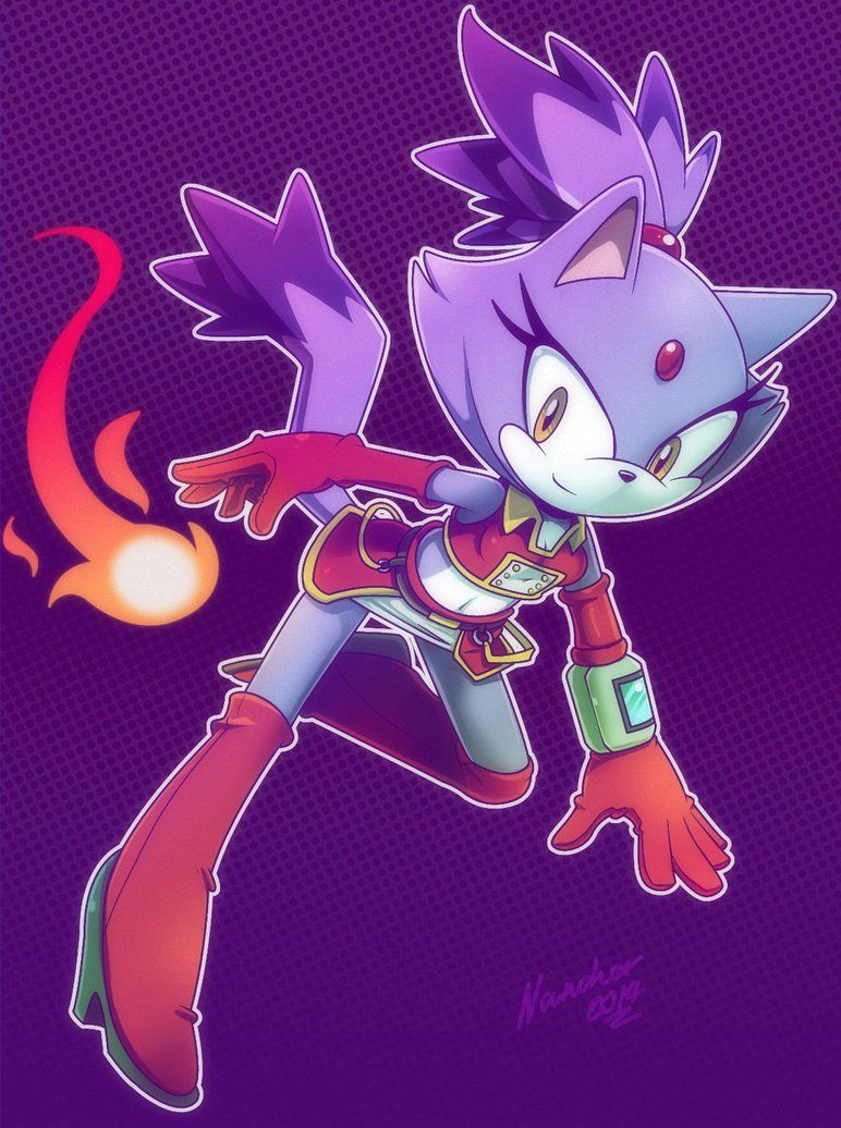 Blaze the cat with a new design by nancher on DeviantArt