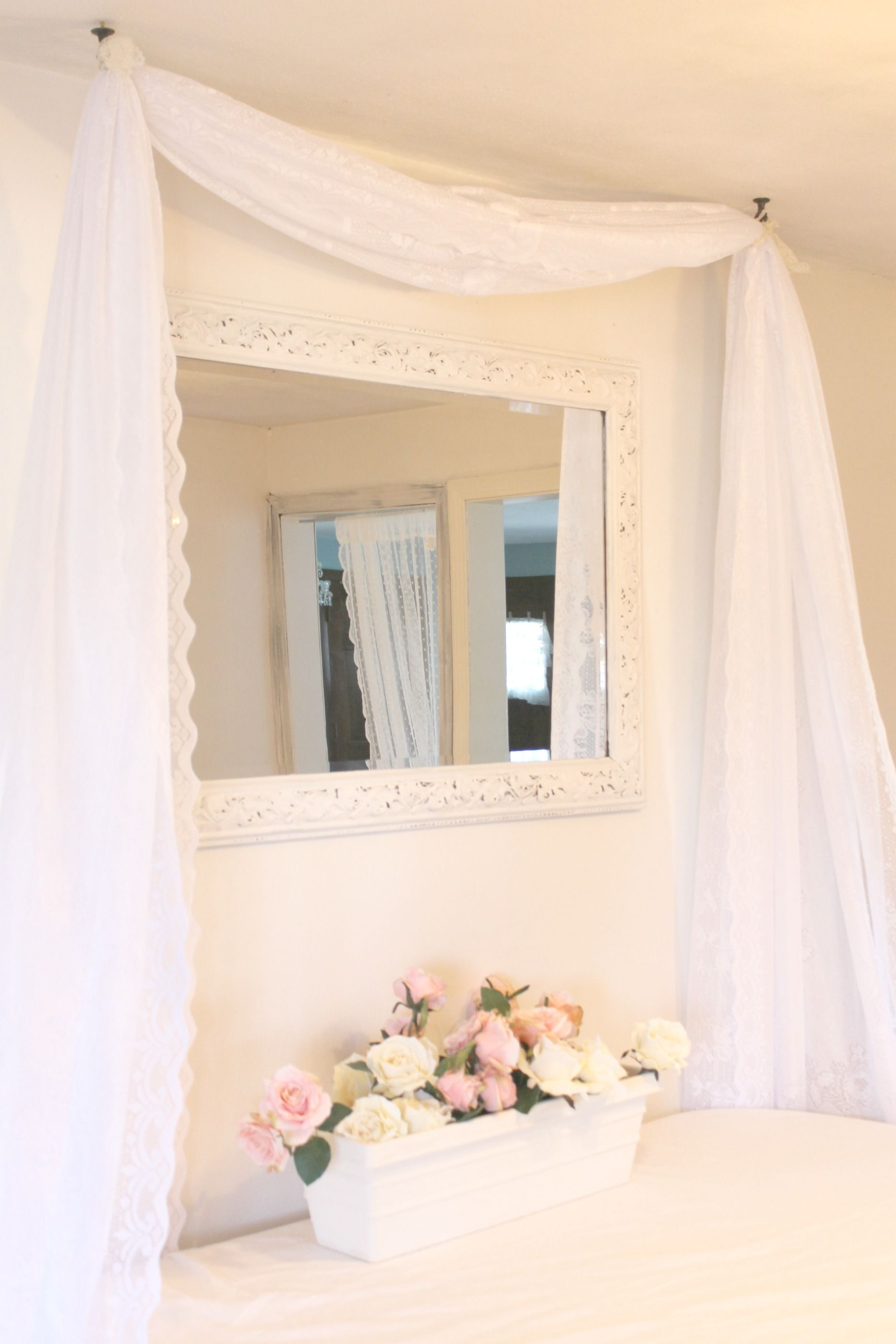 Valance from a long piece of fabric curtains diy diy home decor pinterest valance for Diy curtain ideas for living room