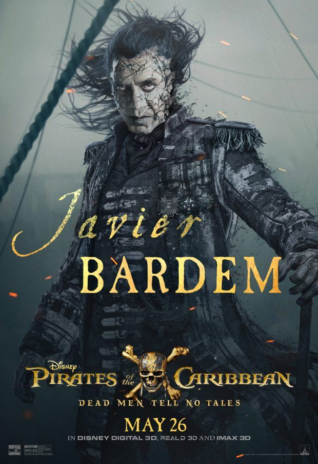 Exclusive Interview With Javier Bardem Who Plays Captain Salazar Pirates Of The Caribbean Pirates Javier Bardem